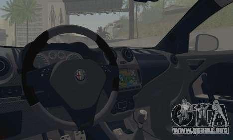 Afla Romeo Mito Quadrifoglio Verde para visión interna GTA San Andreas