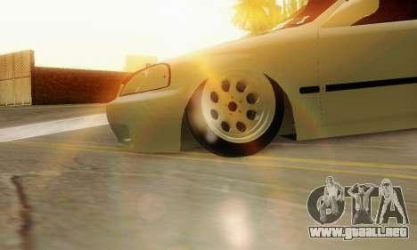 Honda Civic ek Coupe Hellaflush para la visión correcta GTA San Andreas