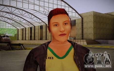 Woman Autoracer from FlatOut v3 para GTA San Andreas tercera pantalla