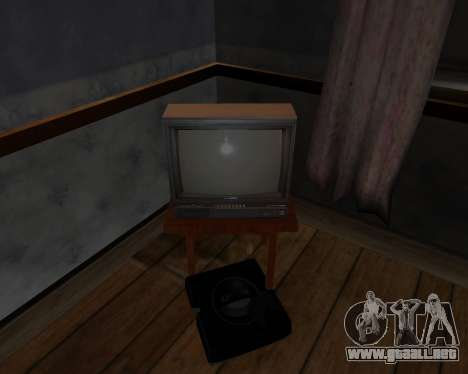 Televisión en color alfa-TC- para GTA San Andreas sucesivamente de pantalla
