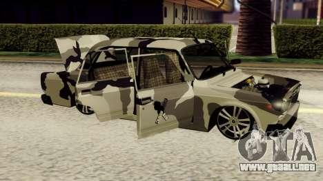 VAZ 2107 en camuflaje para GTA San Andreas left