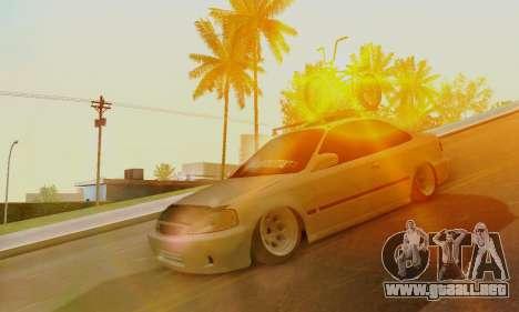 Honda Civic ek Coupe Hellaflush para GTA San Andreas left