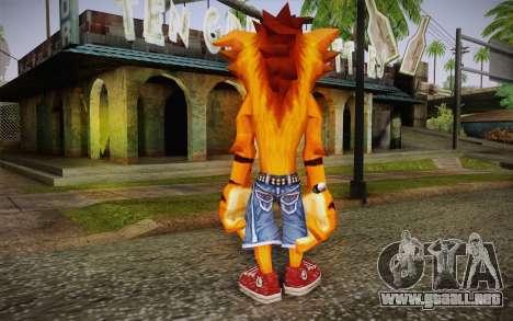 Crash Bandicoot (Crash Of The Titans) para GTA San Andreas segunda pantalla