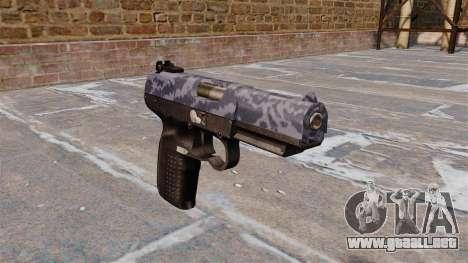 Pistola FN Five-seveN Blue Camo para GTA 4