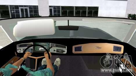 Buick Riviera 1972 Boattail para GTA Vice City visión correcta