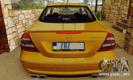 Mercedes-Benz CLK55 AMG 2003 para la vista superior GTA San Andreas