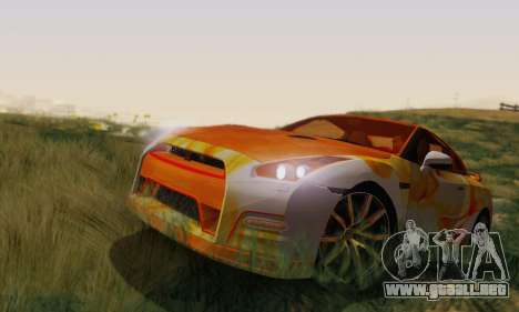 Nissan GTR Heavy Fire para GTA San Andreas