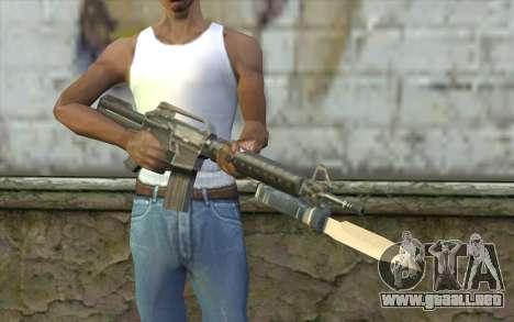 M4A1 con una bayoneta para GTA San Andreas tercera pantalla