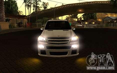 Mercrdes-Benz GL500 para visión interna GTA San Andreas