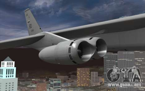 Boeing B-52H Stratofortress para la visión correcta GTA San Andreas