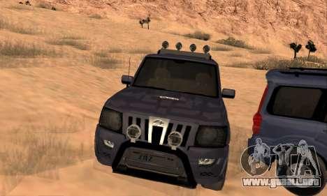 Mahindra Scorpio para vista inferior GTA San Andreas