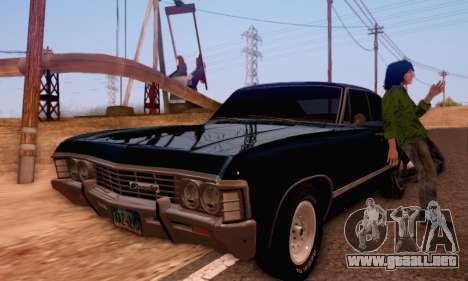 Chevrolet Impala 1967 Supernatural para la visión correcta GTA San Andreas