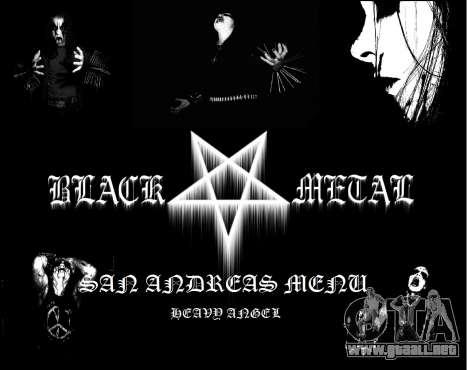 Black Metal Menú (pantalla completa) para GTA San Andreas