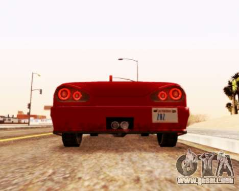 Elegía Convertible v1.1 para GTA San Andreas vista posterior izquierda