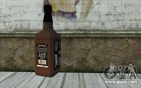 Jack Daniels Whiskey para GTA San Andreas segunda pantalla