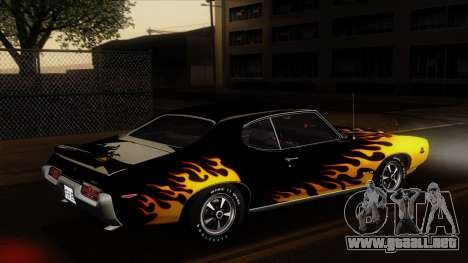 Pontiac GTO The Judge Hardtop Coupe 1969 para la vista superior GTA San Andreas