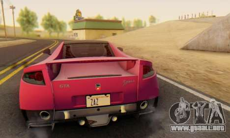 GTA Spano 2014 HQLM para la vista superior GTA San Andreas