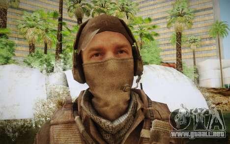 Mercenario en la armadura (COD MW3) para GTA San Andreas tercera pantalla