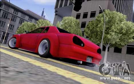 Elegy Rocket Bunny para GTA San Andreas vista posterior izquierda