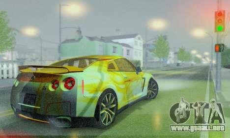 Nissan GTR Heavy Fire para visión interna GTA San Andreas