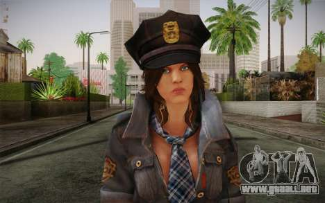 Helena Harper Police Version para GTA San Andreas tercera pantalla