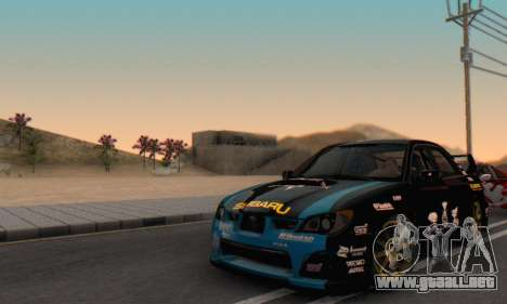 Subaru Impreza WRC STI Black Metal Rally para vista lateral GTA San Andreas