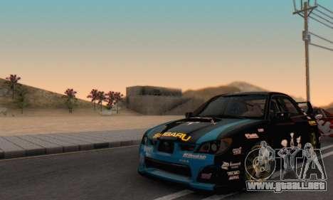 Subaru Impreza WRC STI Black Metal Rally para vista lateral GTA San Andreas
