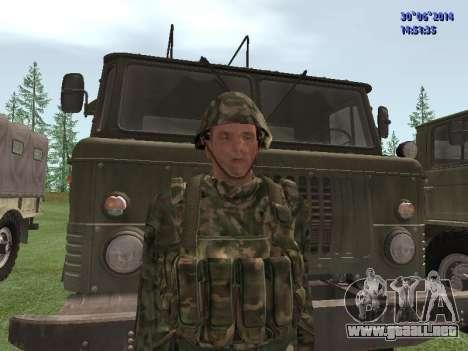 El combatiente del ejército ruso para GTA San Andreas