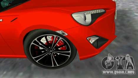 Toyota GT86 para GTA Vice City vista lateral izquierdo