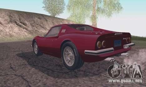 Ferrari Dino 246 GTS Coupe para GTA San Andreas left