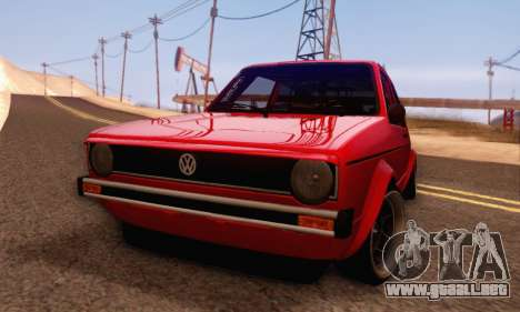 Volkswagen Golf Mk I Punk para GTA San Andreas vista posterior izquierda