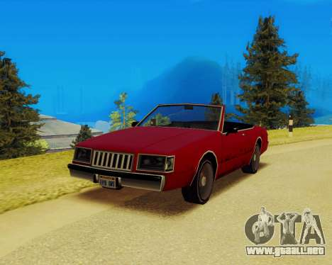Majestuoso Convertible para GTA San Andreas