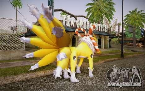 Kyubimon para GTA San Andreas segunda pantalla