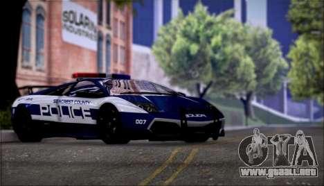 Lamborghini Críticos LP670-4 SuperVeloce, 2010 para GTA San Andreas vista hacia atrás