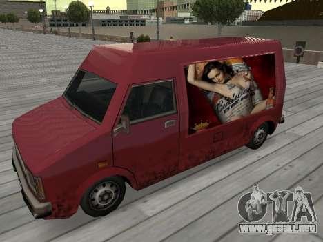 La nueva publicidad en los coches para GTA San Andreas
