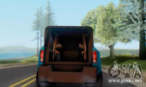 Dodge Ram 3500 Super Reforzada para GTA San Andreas vista posterior izquierda