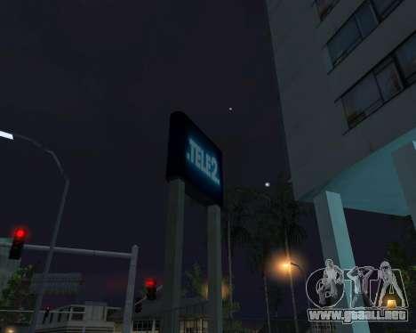 Oficina de TELE2 para GTA San Andreas quinta pantalla