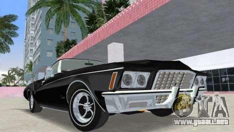 Buick Riviera 1972 Boattail para GTA Vice City vista posterior