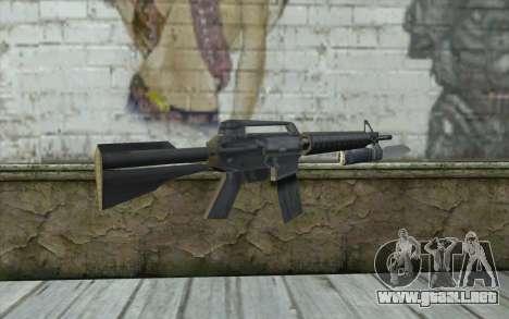 M4A1 con una bayoneta para GTA San Andreas segunda pantalla