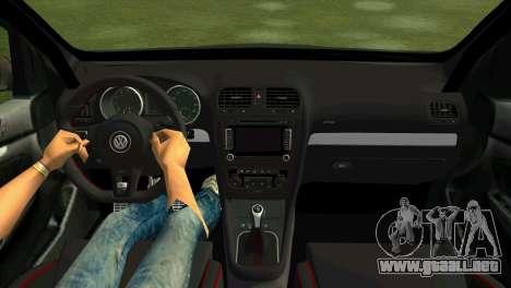 Volkswagen Golf GTI W12 para GTA Vice City visión correcta