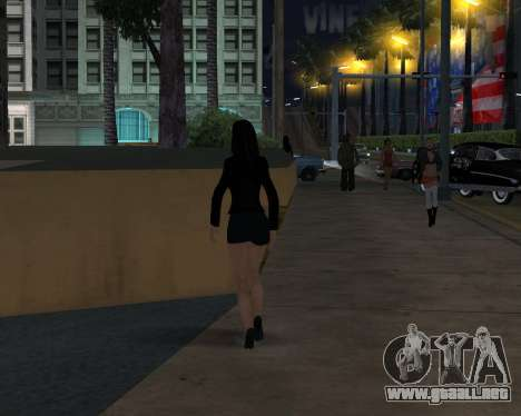 Black Dressed Girl para GTA San Andreas sucesivamente de pantalla