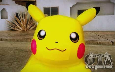 Pikachu para GTA San Andreas tercera pantalla