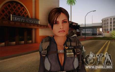 Jill Valentine from Resident Evil: Revelations para GTA San Andreas tercera pantalla