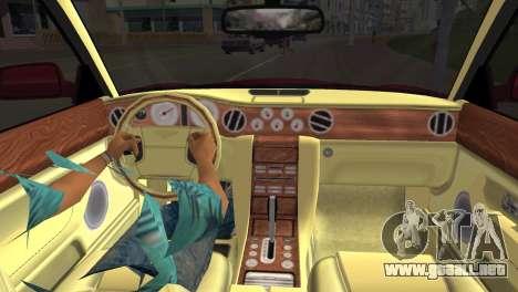 Bentley Arnage T 2005 para GTA Vice City visión correcta