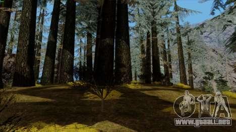 El denso bosque v2 para GTA San Andreas sexta pantalla