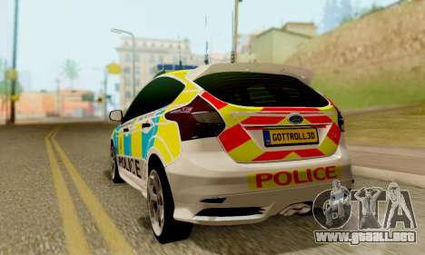 Ford Focus ST 2013 British Hampshire Police para GTA San Andreas left