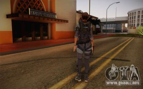 Jill Valentine from Resident Evil: Revelations para GTA San Andreas segunda pantalla