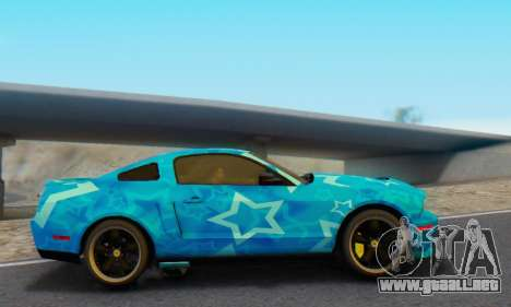 Ford Mustang Shelby Blue Star Terlingua para GTA San Andreas left