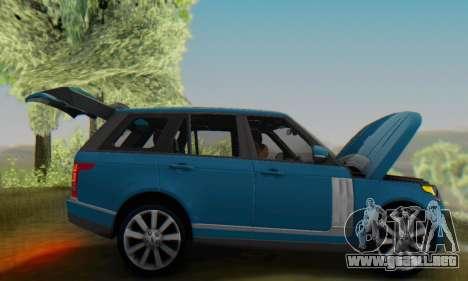 Range Rover Vogue 2014 V1.0 Interior Nero para GTA San Andreas vista hacia atrás