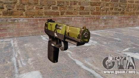 Pistola FN Five seveN Woodland para GTA 4
